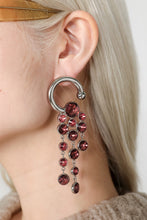 Load image into Gallery viewer, SILVER EARRINGS WITH PURPLE DETAILS