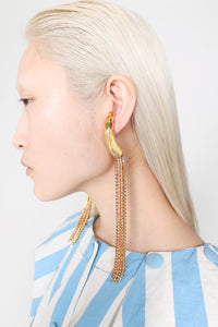 GOLD SQUID EARRINGS