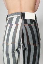 Load image into Gallery viewer, BLACK & WHITE DENIM CLASSIC PANTS