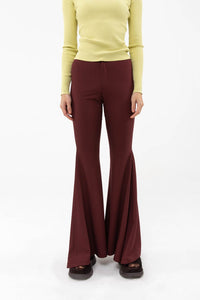 BORDEAUX FLARE PANTS