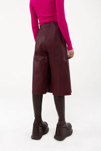 LEATHER PANTA SKIRT