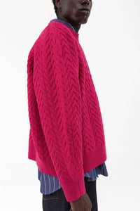 FUXIA FELTED OVERSIZE JUMPER