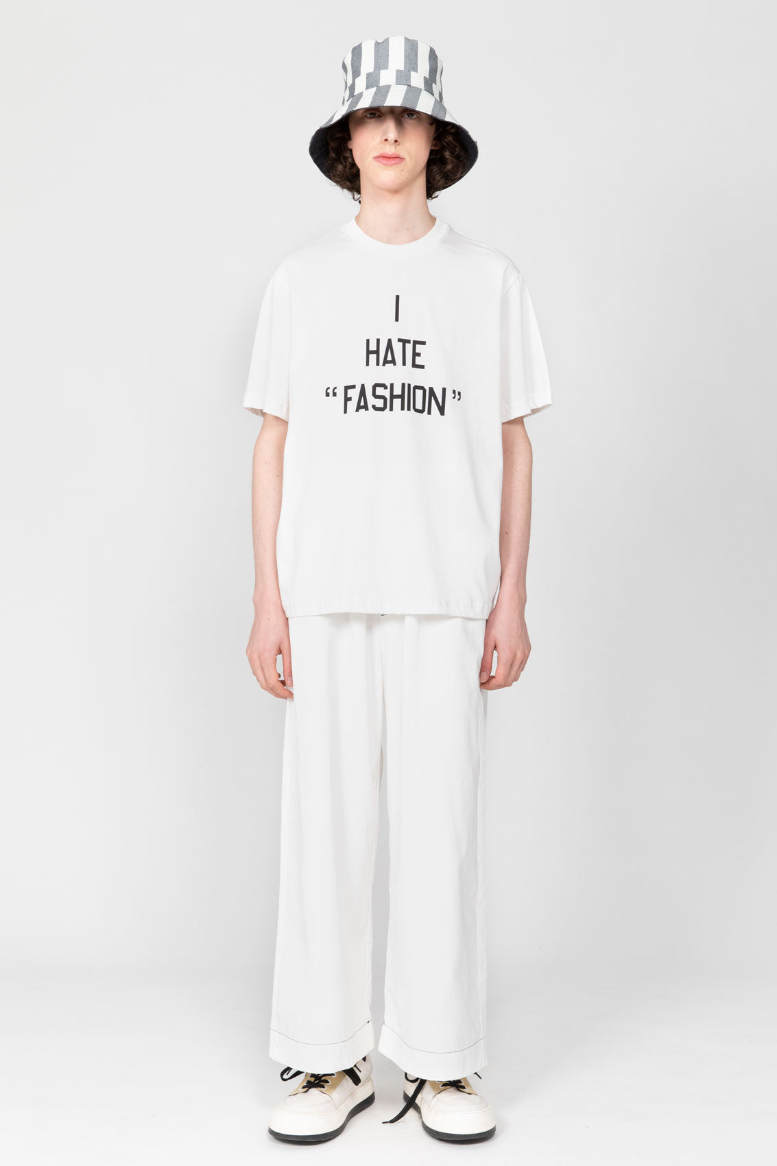 I HATE FASHION WHITE T-SHIRT