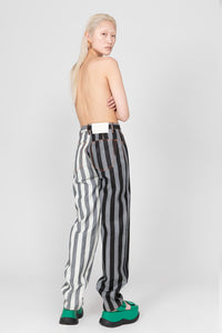 BLACK & WHITE DENIM CLASSIC PANTS
