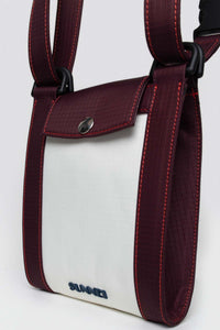 BORDEAUX & WHITE BORSELLO BAG
