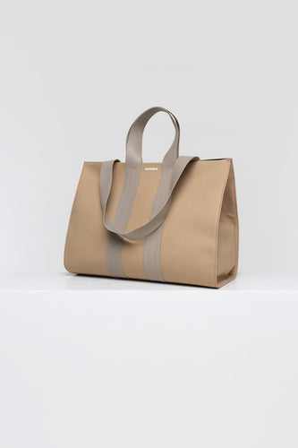 TAUPE PARALLELEPIPEDO BAG