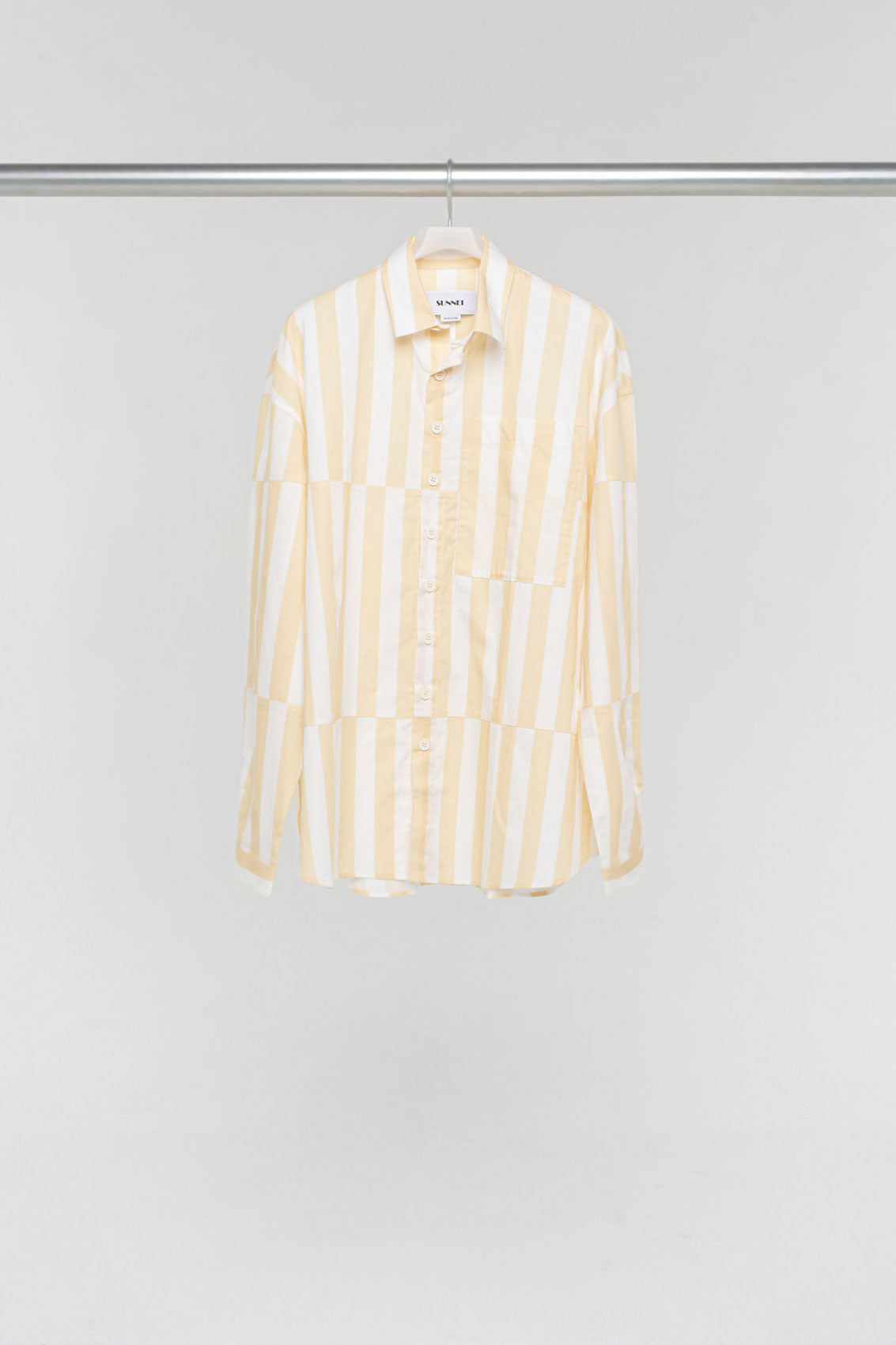 PEACH STRIPED OVER SHIRT