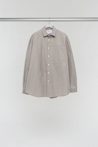 BEIGE NYLON OVER SHIRT