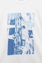 Load image into Gallery viewer, WHITE & BLUE DUOMO T-SHIRT
