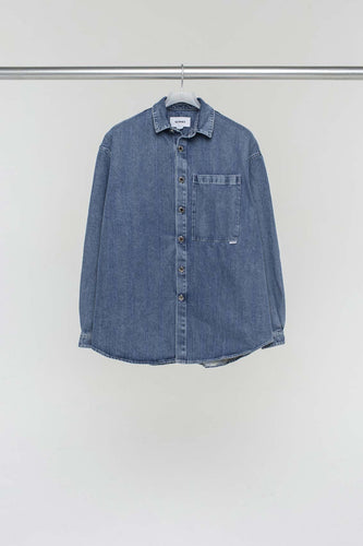 WASHED DENIM OVER SHIRT