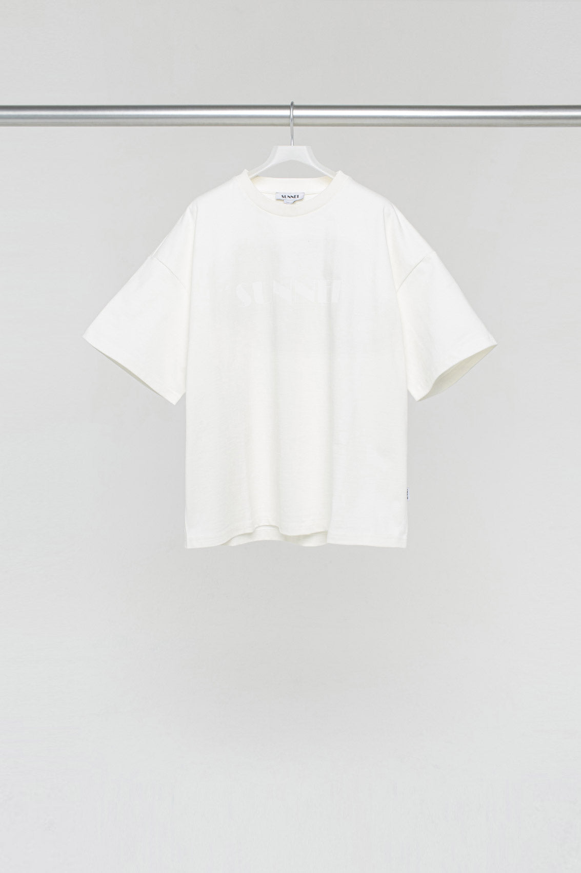 WHITE OVER T-SHIRT WITH LOGO