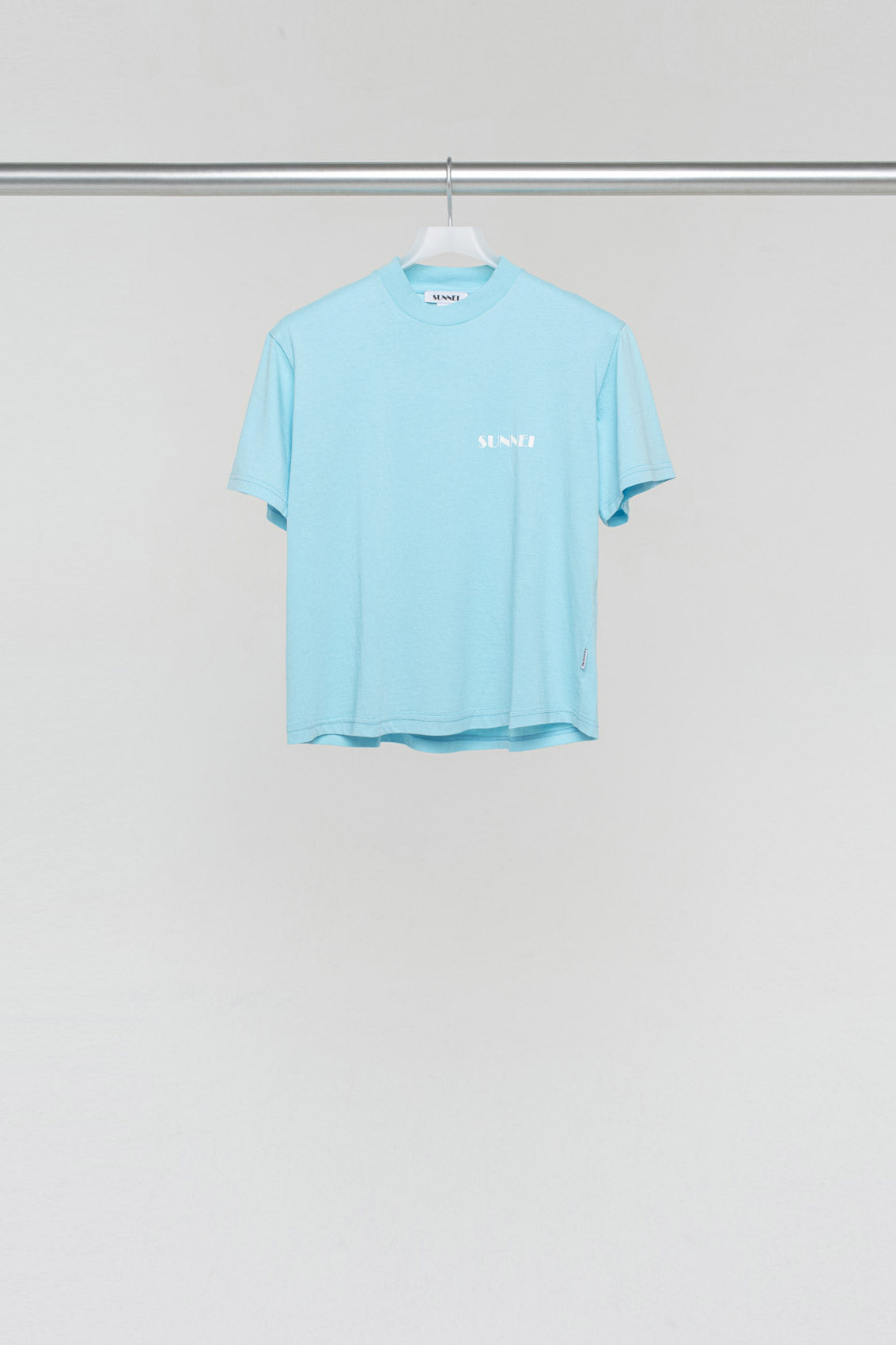 AZURE T-SHIRT WITH LOGO