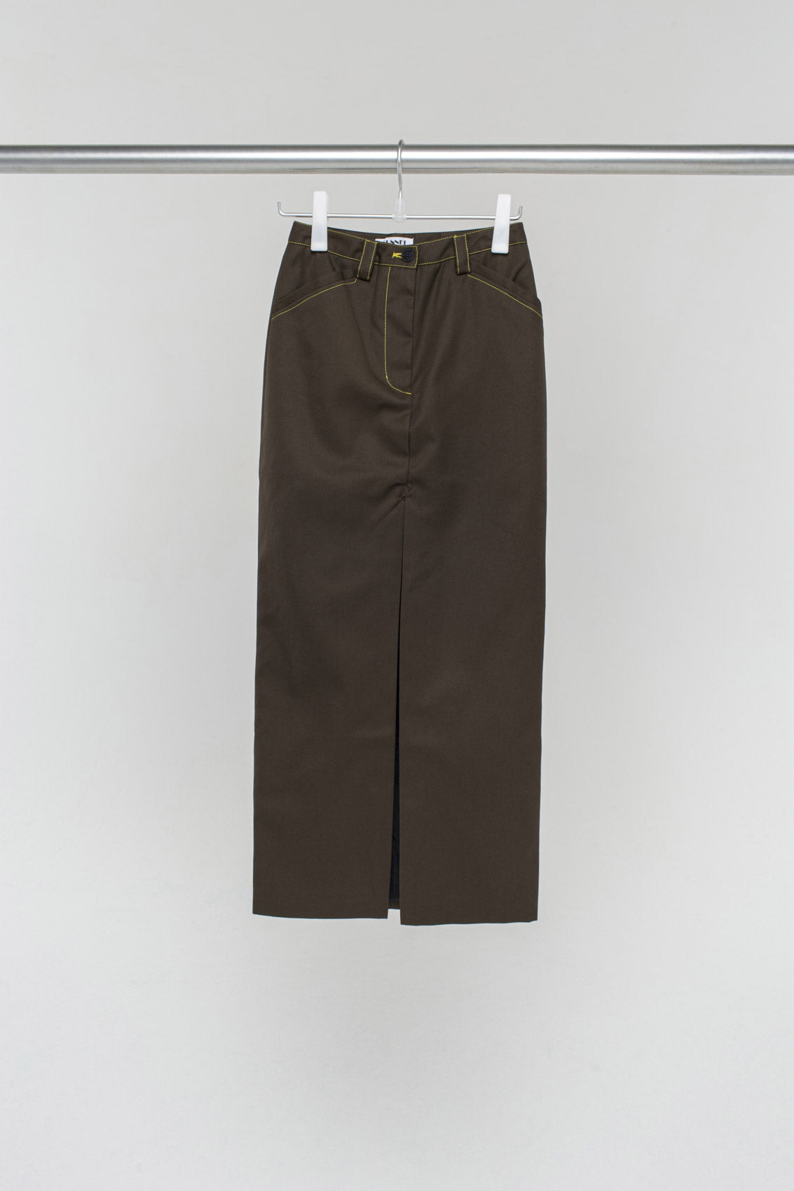 MILITARY GREEN LONG SKIRT