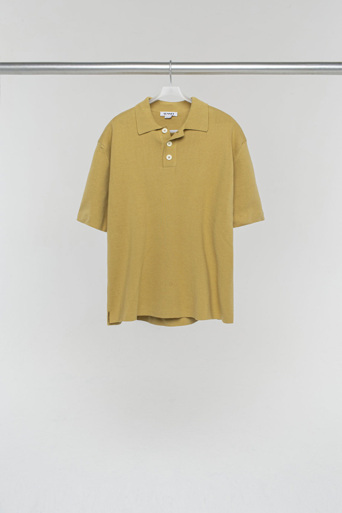 BEIGE KNIT POLO SHIRT