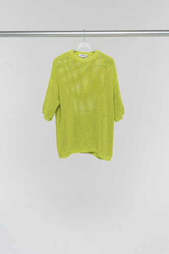 GREEN OVER KNIT T-SHIRT
