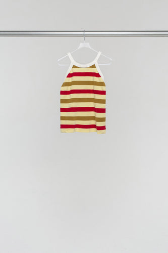 RED STRIPES KNIT TANK TOP