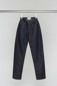 DARK DENIM CLASSIC PANTS WITH STRIPED POCKETS