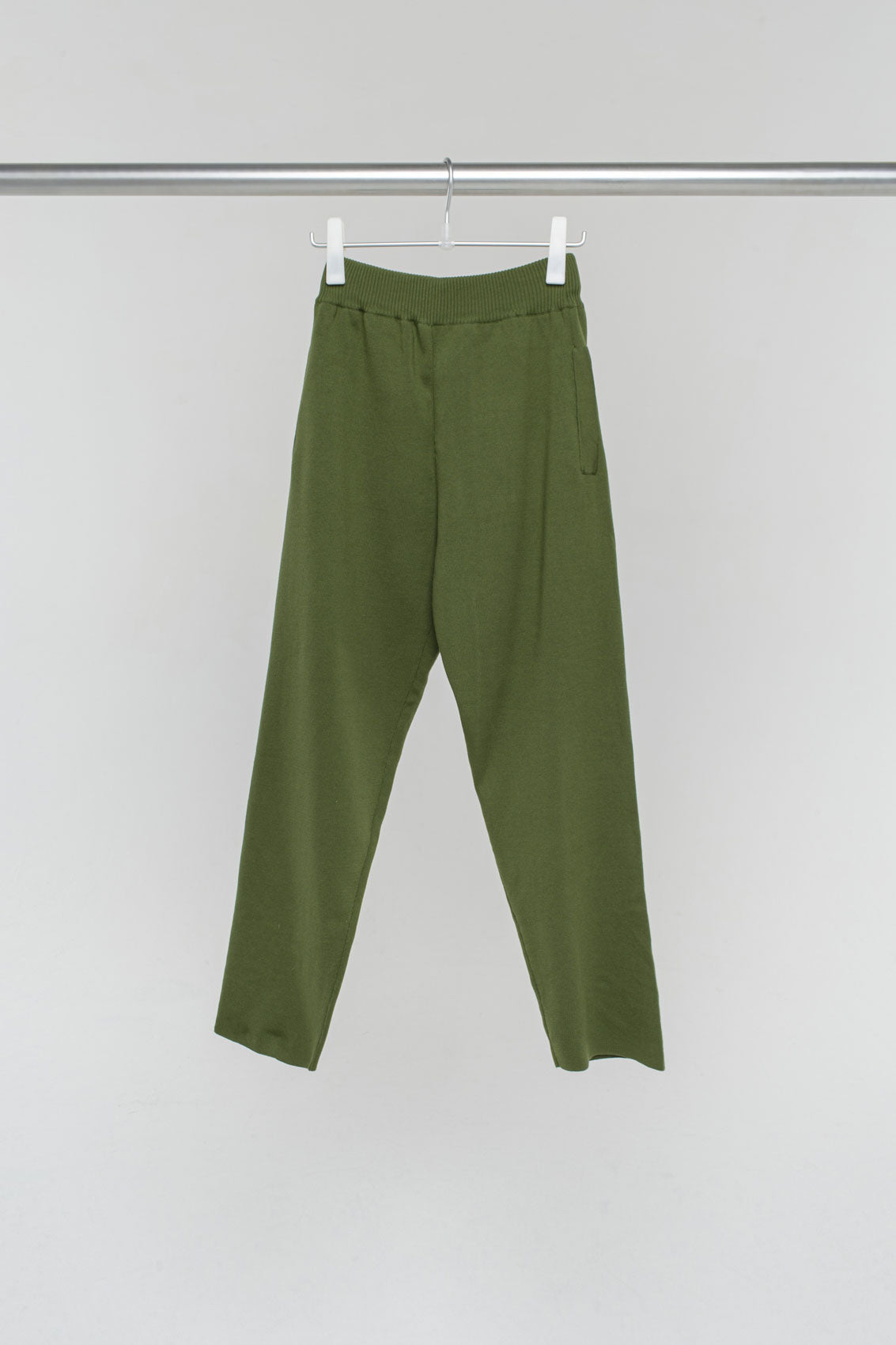GREEN KNIT PANTS