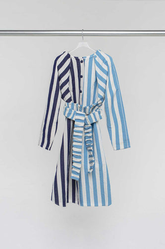 STRIPED LONG OVER SHIRT
