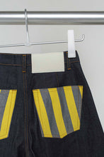 Load image into Gallery viewer, DARK DENIM CLASSIC PANTS WITH STRIPED POCKETS