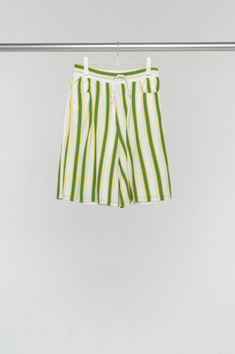 GREEN & YELLOW BERMUDA SHORTS