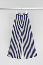 Load image into Gallery viewer, WHITE & BLUE LOOSE FIT PANTS