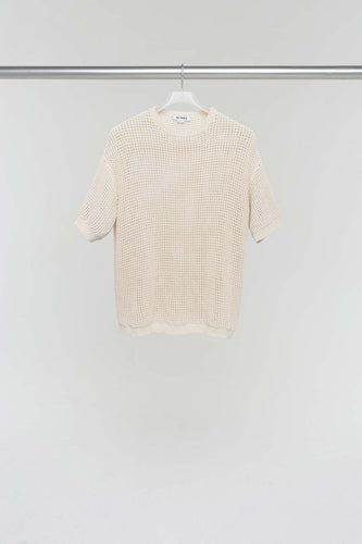 OFF WHITE OVER KNIT T-SHIRT