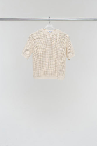 OFF WHITE KNIT OVERSIZE T-SHIRT