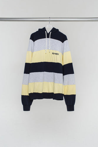 STRIPED HOODIE WITH LOGO
