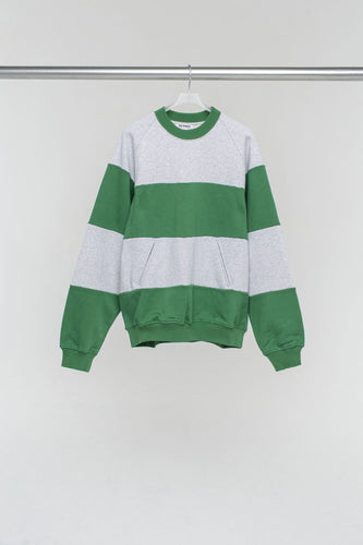 GREEN & GREY BAND SWEATER