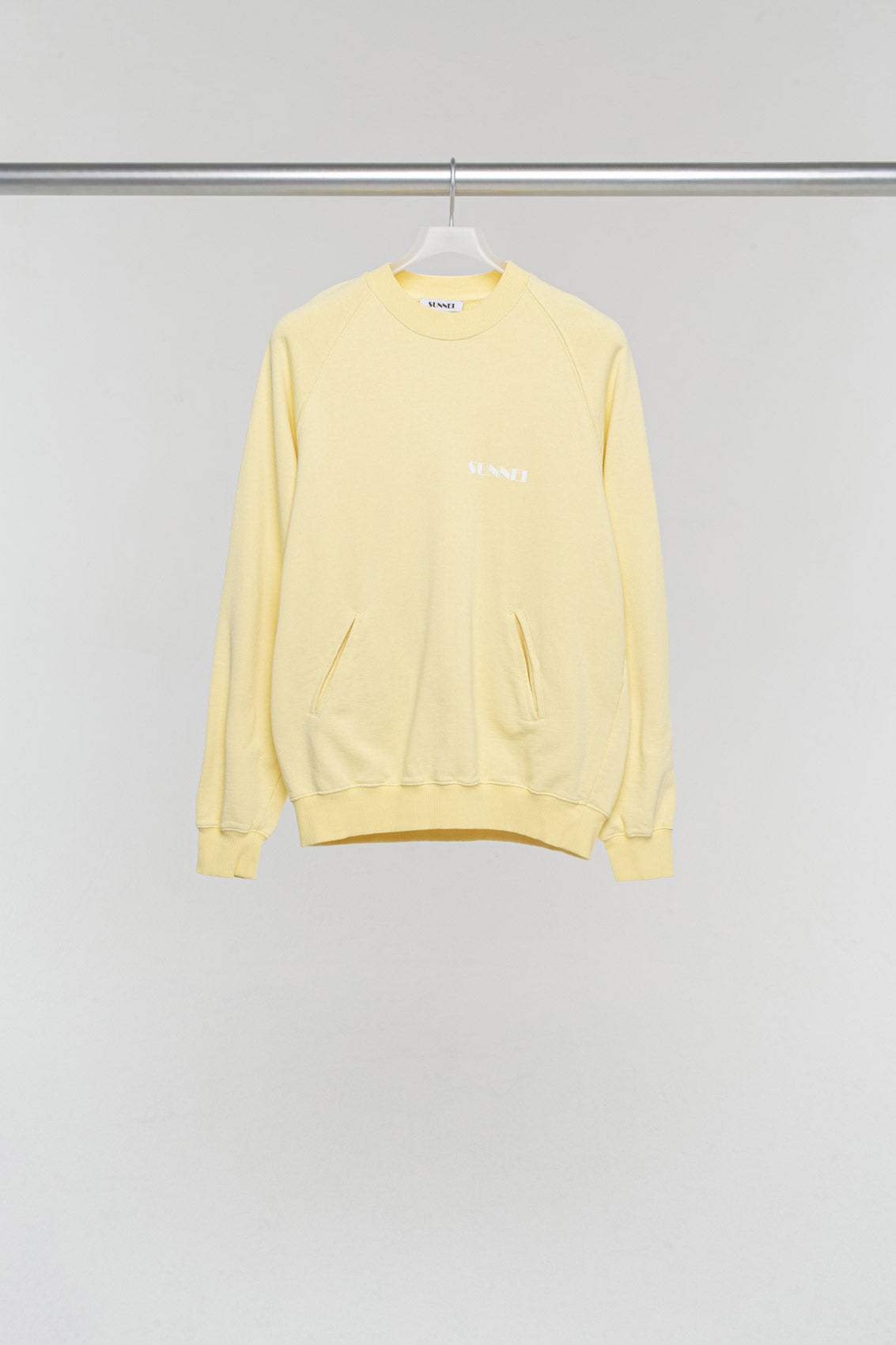 YELLOW SWEATER WITH LOGO