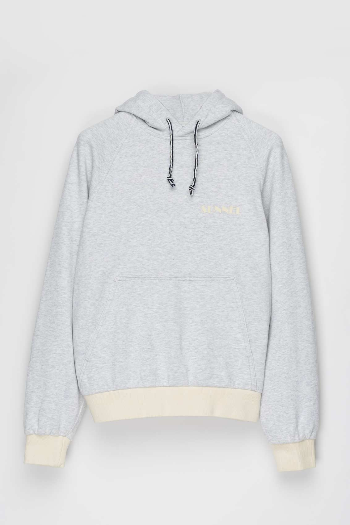 GREY HOODIE WITH LOGO