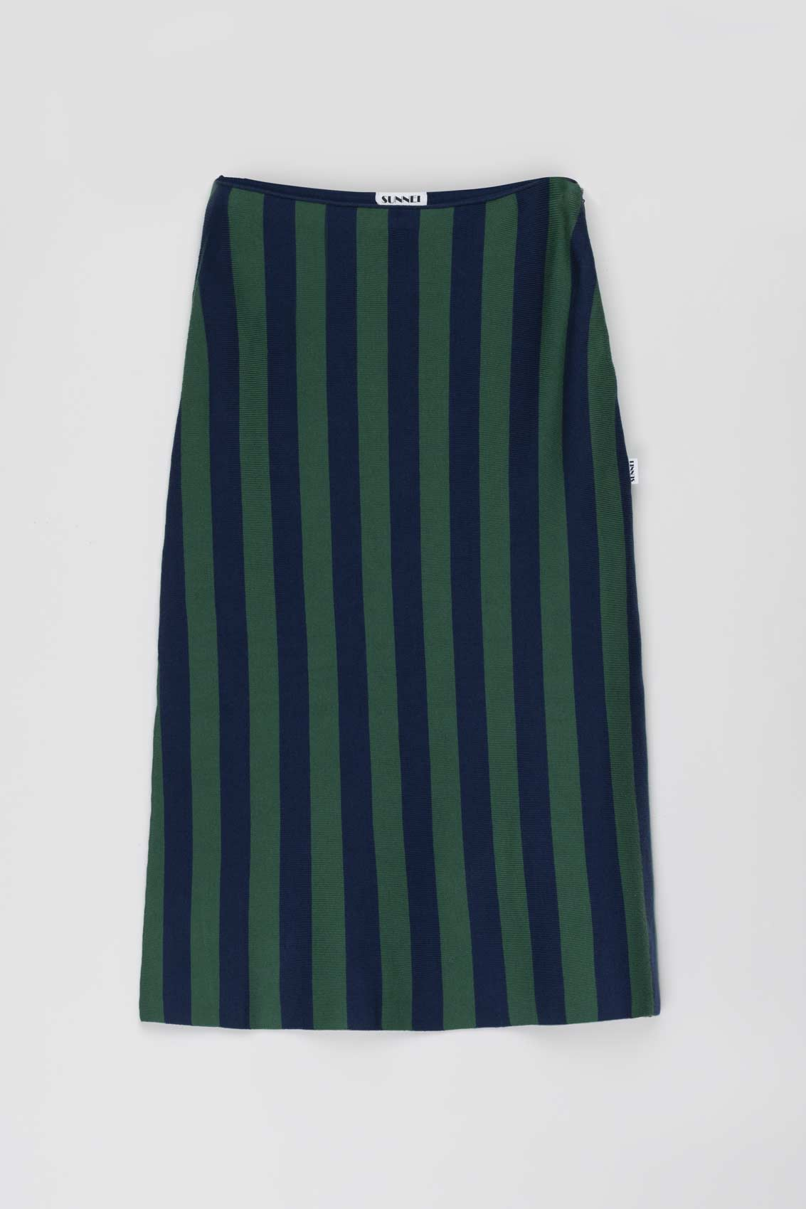 DARK BLUE & GREEN KNIT SKIRT