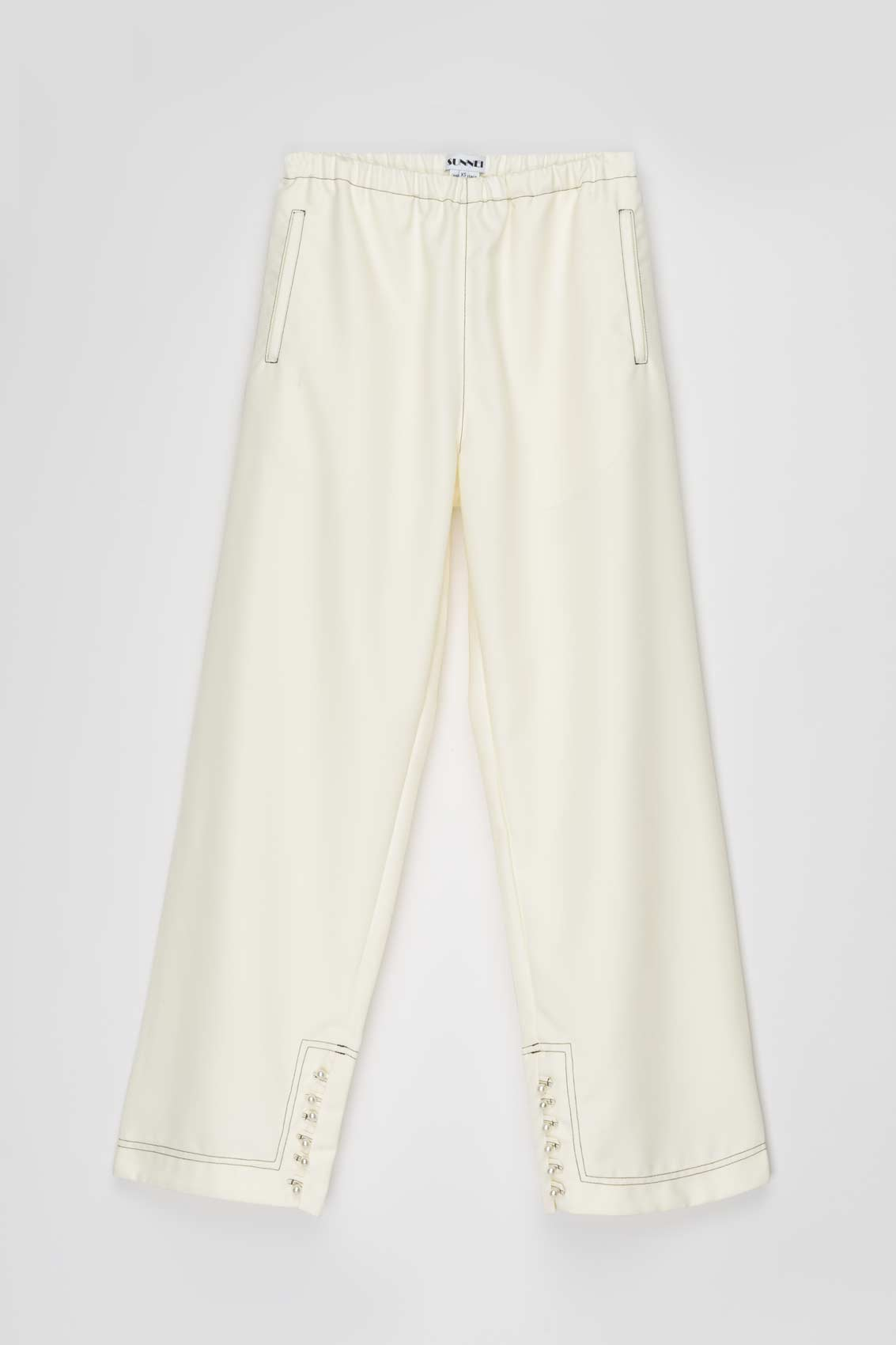 OFF WHITE ELASTIC PANTS