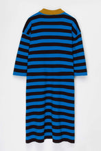 Load image into Gallery viewer, AZURE & BROWN KNIT POLO DRESS