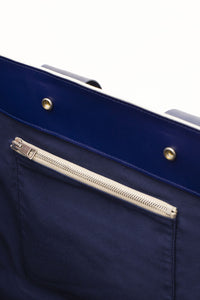 GREY & BLUE PARALLELEPIPEDO BAG