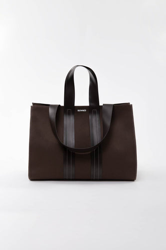 BROWN PARALLELEPIPEDO BAG