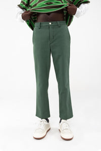 GREEN STRAIGHT PANTS