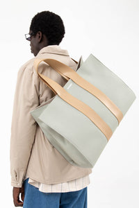 GREY & BEIGE PARALLELEPIPEDO BAG