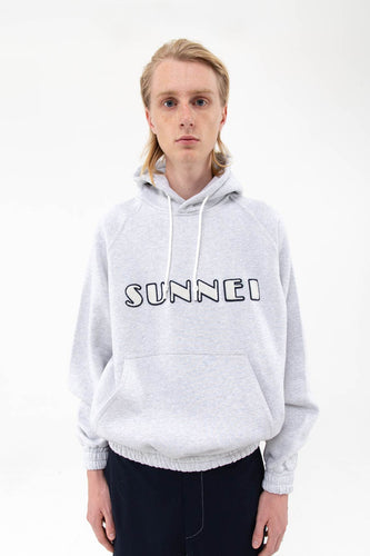 PATCH LOGO GREY HOODIE