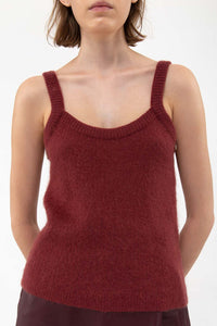 BORDEAUX KNIT TANK TOP