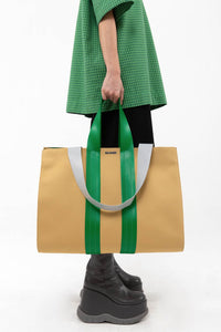 BEIGE PARALLELEPIPEDO BAG