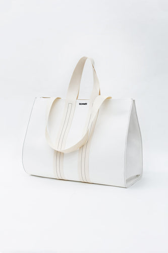 WHITE PARALLELEPIPEDO BAG
