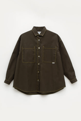 MILITARY GREEN OVER SHIRT