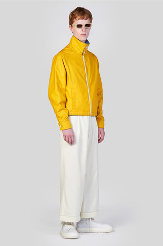 YELLOW REVERSIBLE BOMBER JACKET