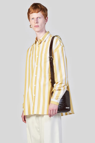 YELLOW STRIPES OVER SHIRT