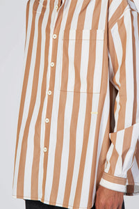BROWN STRIPES OVER SHIRT