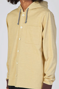 BEIGE HOODIE WITH BUTTONS