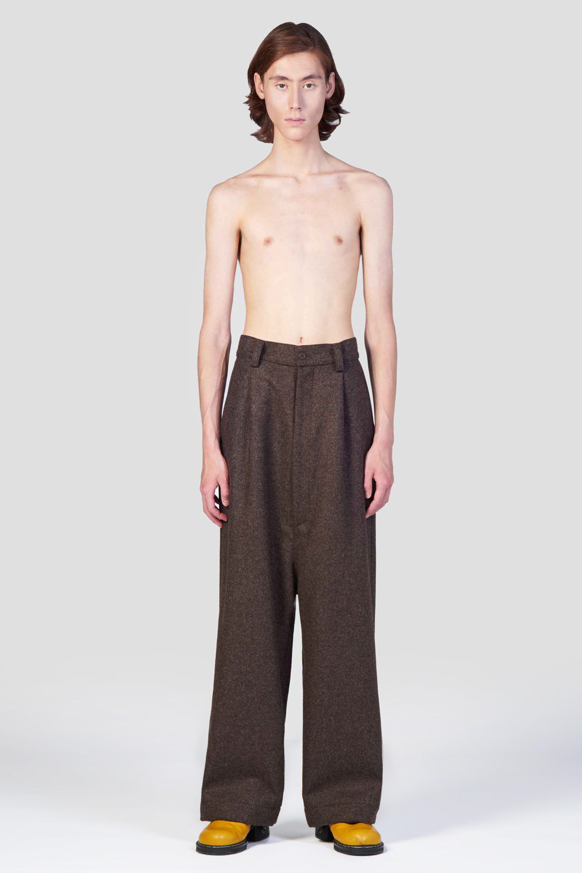 BROWN LOOSE FIT PANTS