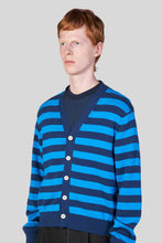 Load image into Gallery viewer, BLUE & AZURE KNIT CARDIGAN